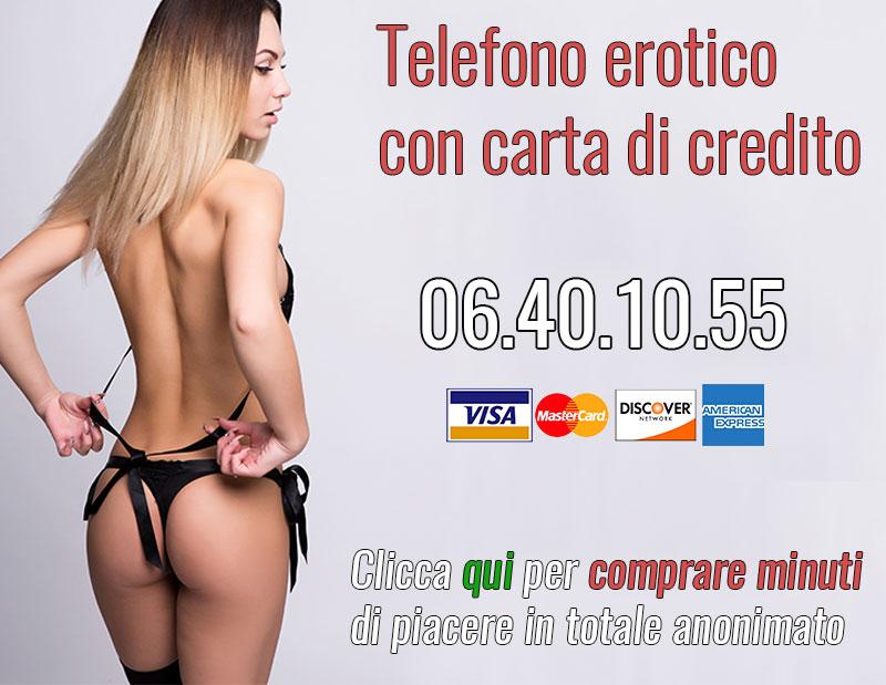 Telefono erotico in carta di credito